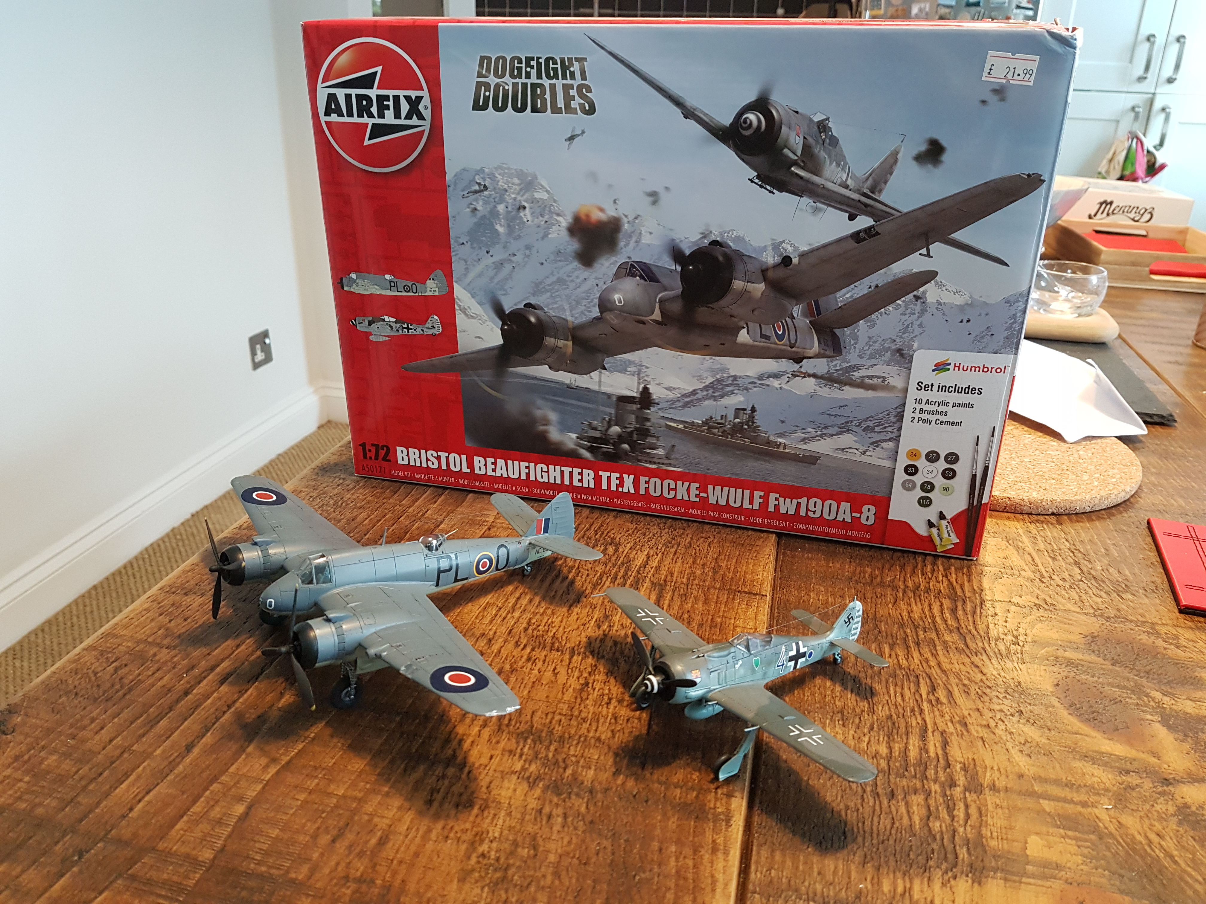 Airfix Dogfight Double - Beaufighter & Fw190 - Ready for Inspection